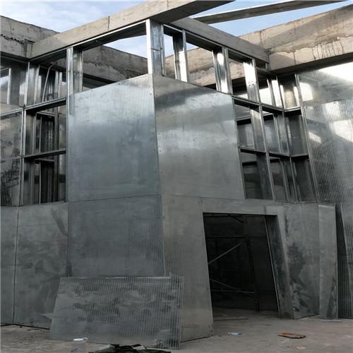 广东中山市某化工厂防爆墙施工现场